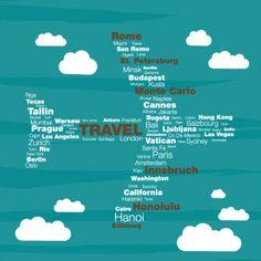 Travel concept typographyc plane vector Free Vector