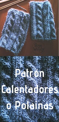 Un accesorio de punto rápido, no requiere de mucho material, para ti o para regalar, para darle un toque chic al outfit: boot cuffs, #calentadores #polainas #dos agujas #patrón #tutorial #soywoolly Knitted Boot Cuffs, Knit Boots, Stitch Patterns, Knitting Patterns, Simple Wallet, Sewing To Sell, Wallet Tutorial, Seed Stitch, Crochet Bracelet