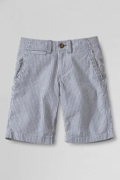 Boys' Seersucker Cadet Shorts from Lands' End.  Adorable!  Size:  Little Boy, SLIM, 5.  (Bigger size is fine since he can wear them the following year.)