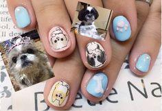 Nail Art - Beetle Nail :  ペット わんこネイル  #pet #dog  #Beetlenail #Beetle近江八幡 #ビートルネイル #ビートル近江八幡