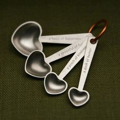 Quotes Heart Measuring Spoon Set – Sugarboo & Co