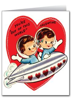Vintage Retro Valentine's Day Card [VAL122] : Custom Invitations and Announcements for all Occasions, by Delight Invite