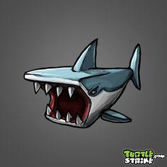 One feeding frenzy shark... Check.