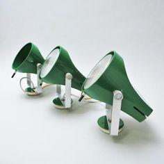 Green wall lamps by Etienne Fermigier Disderot  1967