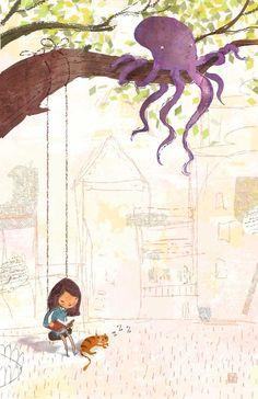 Tranquility reader?!!! / Tranquilidad lectora?!!! (ilustración de Lee White)