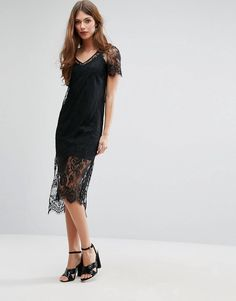 River Island Lace Tshirt Dress