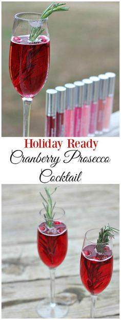 Time to get Holiday Ready with this Cranberry Prosecco Cocktail and Neutrogena #ad