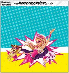 Molde Quadrado Barbie Super Princesa