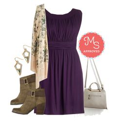 """""""I Love Your Dress in Plum"""" by modcloth ❤ liked on Polyvore featuring moda"""