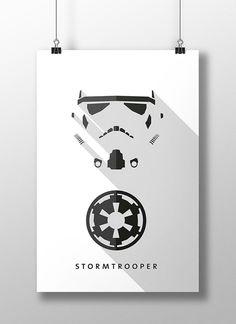"""Stormtrooper, é montado a partir dos clones que participaram da derrubada da República, o que acarretou na formação do Império Galático, sendo assim formada por unidades mais inteligentes e mais capazes de obedecer às ordens propostas pelos oficiais do império tais como Grand Moff Tarkin e Capitão Piett. """"Para saber mais clique na imagem"""""""