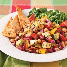 Salade de légumineuses à la mexicaine - Recettes - Cuisine et nutrition - Pratico Pratique