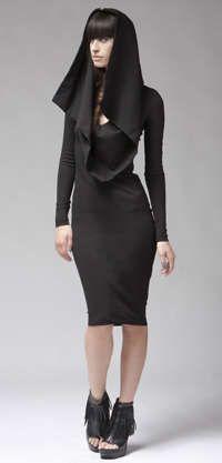 Monastic Apparel - The Dalton Hoodie Dress by Kimberley Ovitz is Modern & Religious (GALLERY)