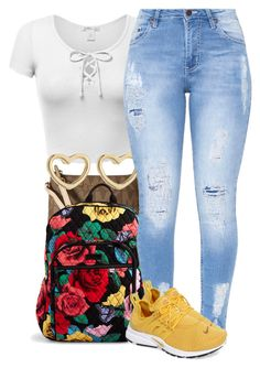 """Untitled #1008"" by trinsowavy ❤ liked on Polyvore featuring MICHAEL Michael Kors, Vera Bradley, Marc by Marc Jacobs and NIKE"