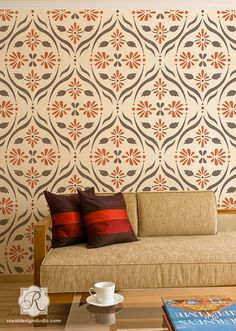 Chloe Floral Trellis Wall Stencil | Save 20% in new paterns with code: GLOBAL20 through Sunday 1/19!