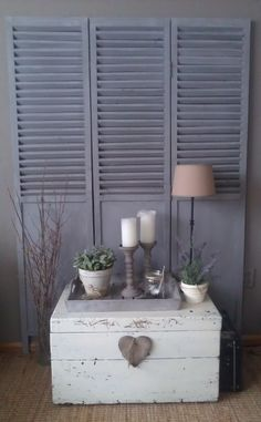 WE could do book shelves beside the tv in the living room with all the louver doors we have