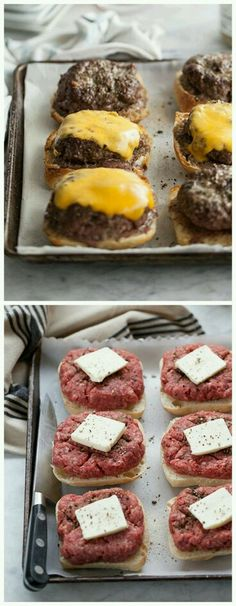 Broiled hamburgers