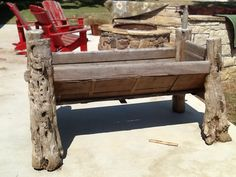 Wooden horse trough great for drinks.....