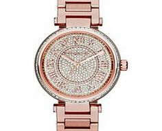 Michael Kors Skylar rose gold-tone crystal watch Encrusted with countless crystals to the dial, this sparkling Skylar watch features a luxe rose gold-tone finish.Essential details: quartz watch with a stainless steel rose gold-tone case and strap wi http://www.comparestoreprices.co.uk/gold-jewellery/michael-kors-skylar-rose-gold-tone-crystal-watch.asp