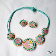 Crochet necklace Miss Macarons/Háčkovaný náhrdelník Slečna Makronka Macarons, Crochet Necklace, Necklaces, Jewelry, Fashion, Moda, Jewlery, Jewerly, Fashion Styles