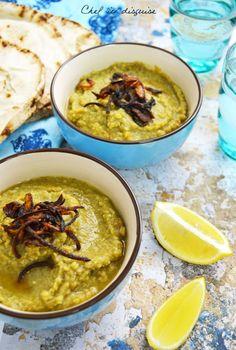 Egyptian fava beans and herbs dip (Egyptian Bessara) #Arabic_flavor