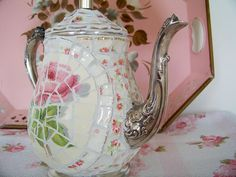 mosaics from vintage dishes