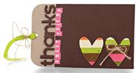 Striped Sweet Friend Tag by @Tanis Giesbrecht - supplies and instructions included