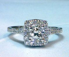 Hand Made The perfect halo Engagement rings by Paul Michael Design | CustomMade.com