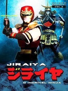Jiraiya Power Rangers, Ninja Jiraya, Live Action, Japanese Poster Design, Character Art, Character Design, Robot Cartoon, Nostalgia, O Pokemon