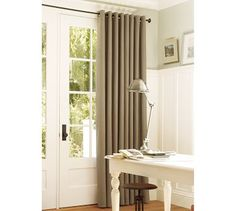 Board & Batten wall with same baseboard & wall color as Columbia house. Living Room Drapes, Dining Room Walls, Grommet Curtains, Drapes Curtains, Decorating Your Home, Interior Decorating, Decorating Ideas, Home Furniture, Outdoor Furniture