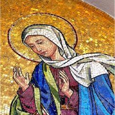 Maria, mãe de Jesus, em mosaico.Lindo!