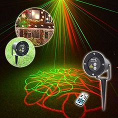 SUNY RG Christmas 8 Pattern Laser Projector Outdoor Waterproof IP65 Garden Xmas Tree Santa Claus Snowflake Reindeer Landscape Remote *** To view further for this item, visit the image link.