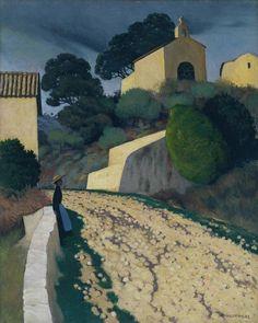 Félix Vallotton, Carretera en St Paul, Var, 1922. Óleo sobre lienzo, 80,6 x 64,5 cm, Tate Gallery, Londres