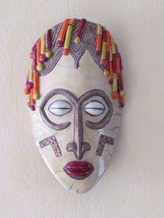 masque africain raku céramique grès Danièle Meyer