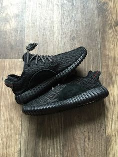Image of Adidas Yeezy Boost 350 'Pirate Black' (2016 RELEASE)