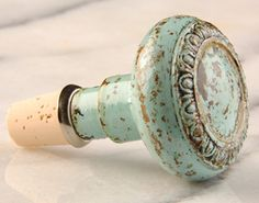 Vintage door knob made into bottle stopper~