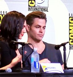 gif, wonder woman and chris pine GIF on We Heart It