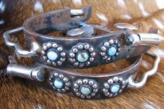 New! Turquoise Stones and Silver Beads Bumper Spurs by The Mad Cow Company. I LOVE THESE!