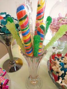 Swizzle sticks and lollies Sweet Bar, Sticks, Cake, Desserts, Food, Tailgate Desserts, Pie, Kuchen, Dessert
