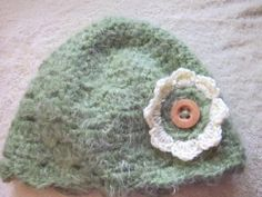 Super soft hat green by KalokeDesigns for $10.95