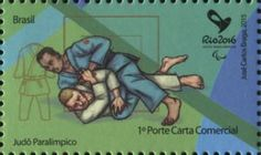 Sello: Judo (Brasil) (Olympic and Paralympic Games Rio 2016 second series) Mi:BR 4259,WAD:BR055.15,RHM:BR C-3466