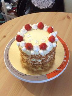 #cake #homemade #strawberry