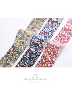 Oriental Ethnic-Style Floral Fabric Ribbon / 1cm0.39 by HOLYCO #ribbon #Fabric