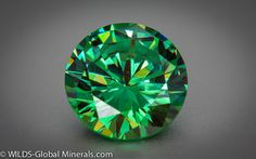 Round Brilliant cut Demantoid Garnet , 5 carat size, available. Its simply an affordable green diamond ! Minerals And Gemstones, Crystals Minerals, Rocks And Minerals, Stones And Crystals, Natural Gemstones, Slytherin, Green Diamond, Green Gem, Raw Stone Jewelry