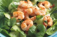Lunch under 200 calories - Prawn salad with pickled cucumber - goodtoknow