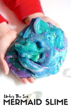 Learn how to make mermaid slime perfect for an under the sea theme or any ocean activities. Our homemade slime recipe is perfect for making slime anytime. Under The Sea Crafts, Under The Sea Theme, Under The Sea Party, Under The Sea Games, Mermaid Slime, Sea Activities, Vocabulary Activities, Summer Activities, Ocean Crafts