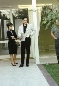 """elvisgirl71: """"A Very Young Priscilla's First Visit to Elvis Presley's LA Home in 1963. Before they tied the knot in 1967. and she became officially Mrs Presley. """""""