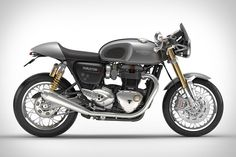 """""""Factory"""" and """"Custom"""" tend to be mutually exclusive terms in the world of cafe racers, but the Triumph Thruxton R Motorcycle manages to be both at once. Powered by a 1,200cc liquid-cooled engine, this six-speed ride has a number of..."""