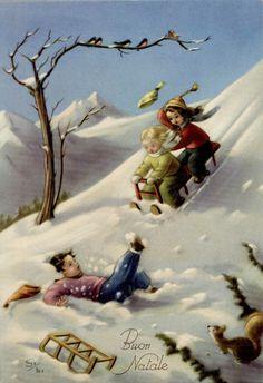 Gi Bi Vintage christmas card