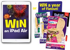 Flatout Bread Tomato Fest Sweepstakes Win an iPad Air or Win a year of Flatout!   Expires July 6, 2014