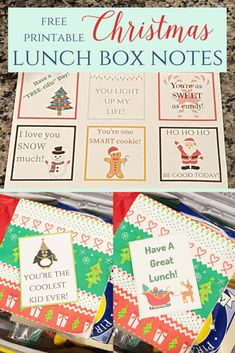 Christmas Lunch Box Notes - Leah With Love